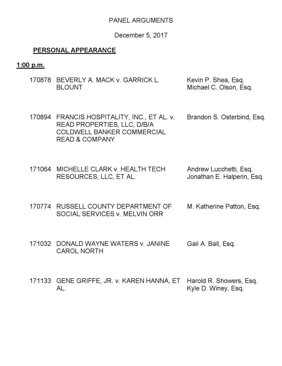 Supreme Court of Virginia - December 5, 2017 Docket-1_Page_1